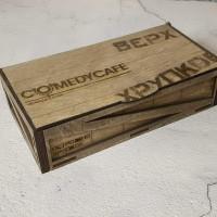 Деревянный ящик для чеков Вепрь