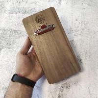 Планшет для счета Оникс из американского ореха с зажимом