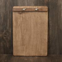 Деревянный планшет Аскет для меню с зажимом барашками А5, А4