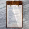 Деревянные меню для ресторана или кафе с винтовым креплением листов формата А5, А4