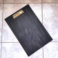 Деревянное меню Опус-О планшет с зажимом А5, А4