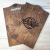 Деревянное меню Опус-Л - планшет с зажимом формата А5 для ресторана или кафе