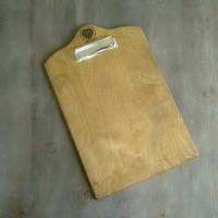 Деревянное меню Опус-МС планшет с зажимом А5, А4