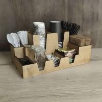 Органайзер Тиана для салфеток, бумажных стаканчиков, одноразовой посуды, пакетиков чая
