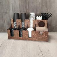Подставка Мик9 для бумажных стаканов, трубочек и крышек на 9 отсеков