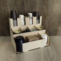 Органайзер Т4-М2 для бумажных стаканчиков в кофейне