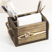 Деревянный ящик для приборов и салфеток Вестель