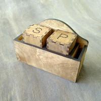Деревянная подставка для соли и перца Паруса-М