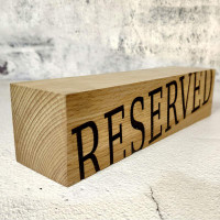 Табличка Reserved для ресторана Брус