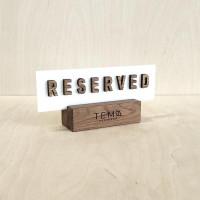Табличка reserved Аполо для ресторана